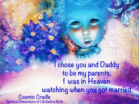 cosmos child blowing kiss watching married