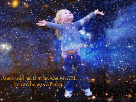 """I was an angel before I was a baby."" - Cosmic Cradle prebirth"