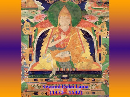 The Second Dalai Lama was already making his presence known before his birth.